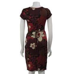 Jonathan Martin Womens Short sleeve ITY Wrap Dress
