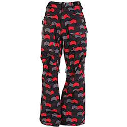 Sessions Fireball Mens Black/ Red Snowboard Pants
