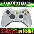 Xbox360 White Wireless Rapid Fire 8Mode modded stealth Controller