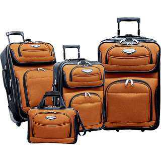 Travelers Choice Amsterdam 4 Piece Set   Orange