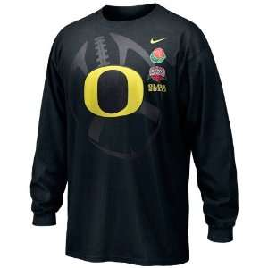 Nike Oregon Ducks Black 2010 Rose Bowl Bound Long Sleeve T