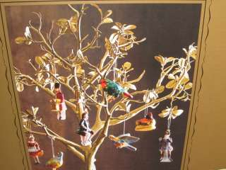 WILLIAMS SONOMA 12 DAYS OF CHRISTMAS GLASS ORNAMENTS SET OF 12 NEW