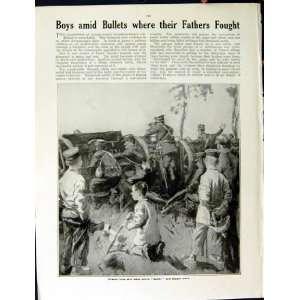 1915 WORLD WAR GERMAN HEAVY GUNS FRENCH SOLDIERS BOYS
