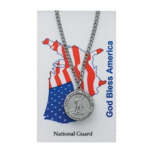 Saint Michael the Arch Angel National Guard Prayer Card Set Jewelry