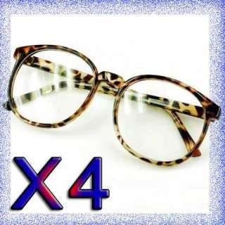 CLEAR LENS BLACK LARGE FRAME Goggles GLASSES Sunglasses