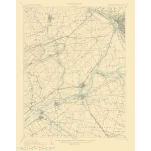 USGS TOPO MAP BURLINGTON QUAD PA/NJ 1906  Home & Kitchen