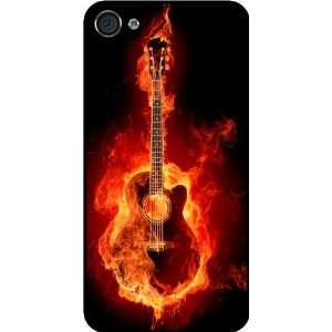 Guitar Rubber Black iphone Case (with bumper) Cover for Apple iPhone