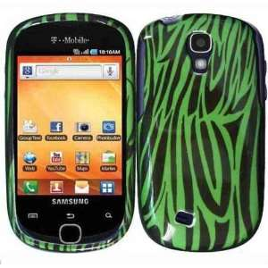 Green Black Zebra Protector Hard Case for Samsung Gravity Smart