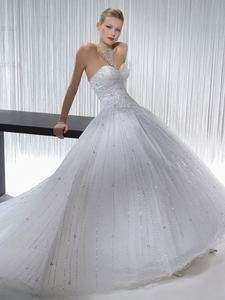 Custom White/ivory Organza Beaded Wedding Dresses/Gowns Size6 8 10 12