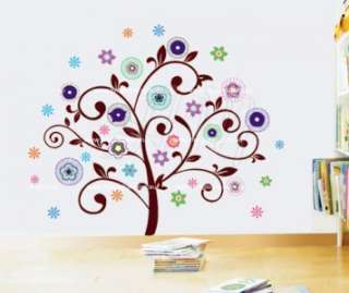 LARGE FLOWER TREE Removable Wall sticker for Kids, Nursery & home