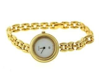 Beautiful Gucci 11/12 Quartz Gold Tone Stainless Steel Women Watch NR