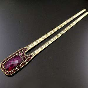 Item  1pc Austrian rhinestone crystal Antiqued hair fork