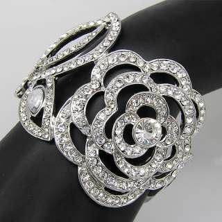 Elegant Bracelet Bangle Cuff W swarovski crystal B242
