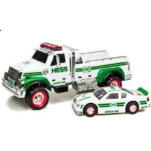 2011 Hess Flatbed Toy Truck and Race Car Toys & Games