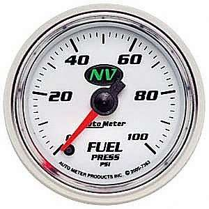 Auto Meter 7363 NV Full Sweep Electric Fuel Pressure Gauge Automotive