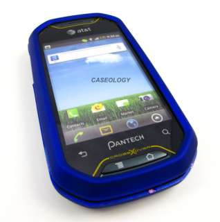 BLUE RUBBERIZED HARD CASE COVER PANTECH CROSSOVER PHONE