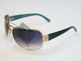 DG EYEWEAR Designer Fashion Sunglasses Shades New Womens Gold Blue