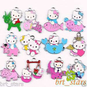 silver Mix hello kitty CONSTELLATION Pendants Charms 30~21mm TS114