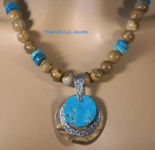 Jay King MINE FINDS Sleeping Beauty Turquoise & Picture Jasper