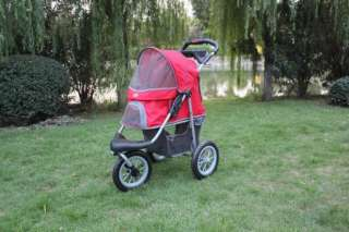 New BestPet Sorty Pet Jogger Jogging Dog Cat Stroller Blue Beige Red