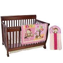 Line Miss Monkey 4 Piece Crib Bedding Set   Kids Line   BabiesRUs