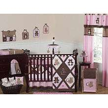 JoJo Designs Pink Teddy Bear Collection 9 Piece Crib Bedding Set