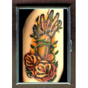 TATTOO ROSE HAND THORN PUNK CREDIT CARD CASE WALLET