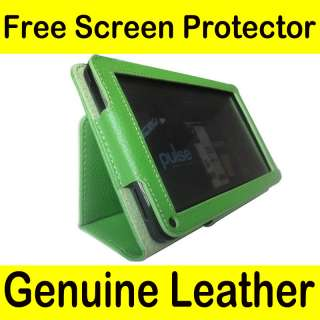 Genuine Leather Pouch Case Cover Jacket for  Kindle Fire Tablet