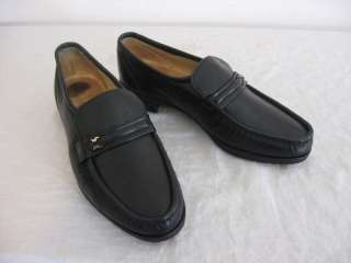 Vintage Mens 8 E Florsheim ROYAL IMPERIAL Black Loafers |