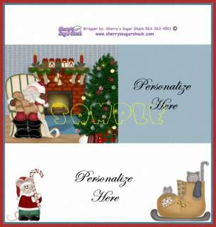 10 Christmas Sleepy Santa Personalized Candy Wrapper Party Favors