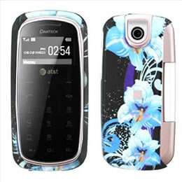 Blue Flowers Hard Case Cover for Pantech Impact P7000