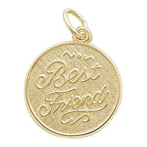 Rembrandt Charms Best Friends Charm, Gold Plated Silver