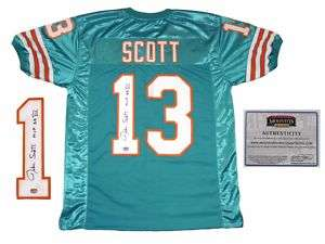 Jake Scott Miami Dolphins SIGNED Home Jersey w/ MVP MM