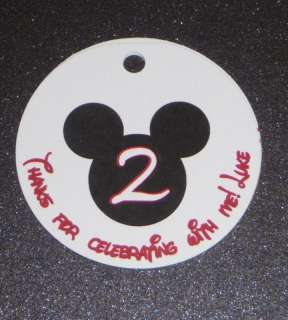 20 MICKEY MOUSE Birthday Favor Tags   Goody Bag Tags