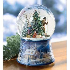 Up Musical Christmas Tree GlitterdomeTM Snow Globe