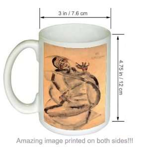 Self Portrait as Prisoner Egon Schiele Art COFFEE MUG
