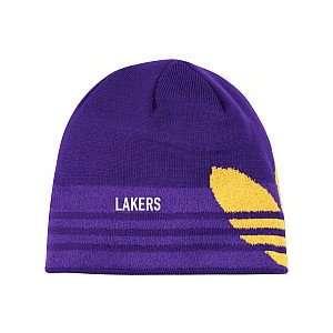 Los Angeles Lakers NBA Adidas Trefoil Purple Knit Beanie