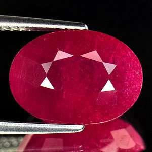 11 Ct. Oval Natural Gem Purplish Red Ruby Madagascar