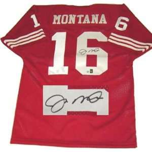 Joe Montana San Francisco 49ers Autographed Throwback Red