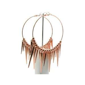 Basketball Wives Paparazzi Spike Earrings Ier2015 Rose Gold 80mm