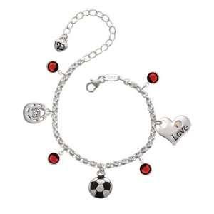 Love & Luck Charm Bracelet with Siam Swarovski Crystals Jewelry