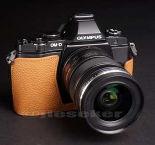 Genuine real COW leather case bag cover for Olympus OM D OMD EM5 E M5