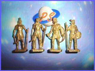 KINDER SURPRISE METAL SET   CHIEFS INDIANS GOLD