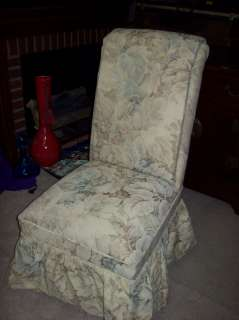 BEAUTIFUL UPHOLSTERED PARSONS DINING ROOM CHAIR