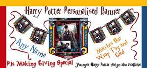 Personalised Banner Birthday Party Harry Potter Banner