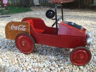 Red COCA COLA Outdoor METAL CHILDRENS PEDAL CAR Toy Car