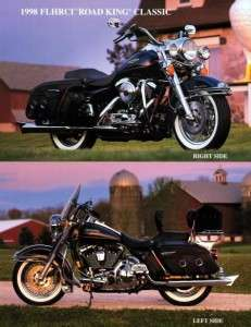 1998 Harley Davidson Road King Classic Dealer Ad Sheet