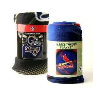 St. Louis Sports Fan 2 Pack Rams & Cardinals Super Soft