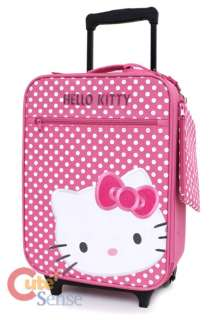 Sanrio Hello Kitty Suit Case , Luggage, Travel Rolling Bag  Pink Dots