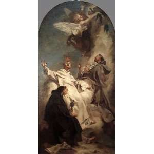 painting name Three Dominican Saints, by Piazzetta Giovanni Battista